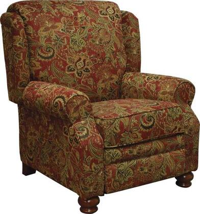 """Jackson Furniture Belmont Collection 4347-11- 38"""" Reclining Chair with Chenille Fabric Upholstery, Reversible Box Welted Seat Cushions and Turned Bun Feet in"""