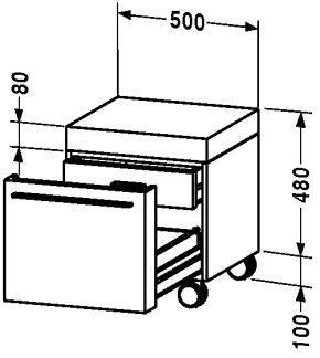 Duravit 954313  1 Drawers Cabinet