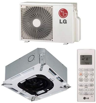 LG LCxx7HV4 Ceiling Cassette Single Zone Mini Split System with Cooling Capacity, Heating Capacity, Inverter, Swirl Wind, Jet Cool, and Ultra-quiet Turbo Fan