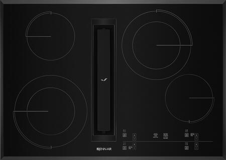 "Jenn-Air JED4430G 30"" Electric Downdraft Cooktop with Electronic Controls 4 Elements, Perimetric Extraction, DuraFinish Glass Protection, and Hot Surface Indicator Light, in"