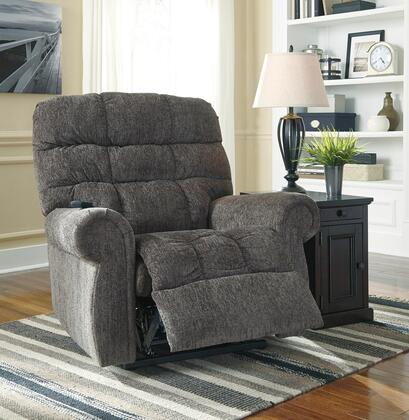 Signature Design by Ashley Ernestine 97601X2 Power Lift Recliner with Rolled Arms, Dual Motor Design and Stitching Details in