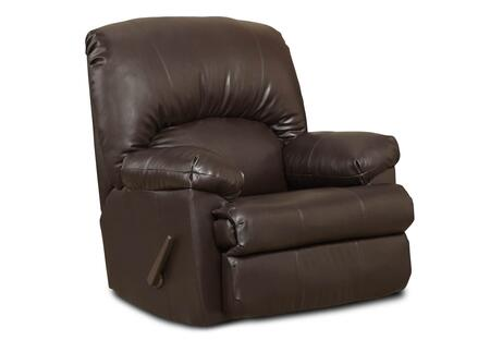 Chelsea Home Furniture 8500 Charles Rocker Recliner with Kiln Dried Crafted Hardwood Frame, No Sag Springs, Sewn Pillow Cushions, Attached Back and Seat Cushions in