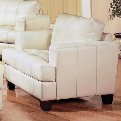 Coaster 501693 Samuel Series Bonded Leather Armchair with Wood Frame in Cream