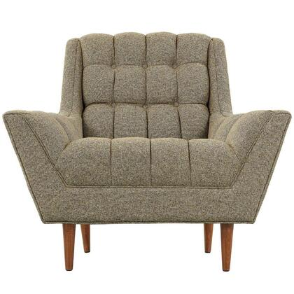 Modway EEI1786OAT Response Series Oatmeal Fabric Armchair with Wood Frame