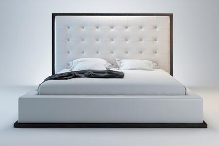 Modloft MD317QWHT Ludlow Series  Queen Size Platform Bed