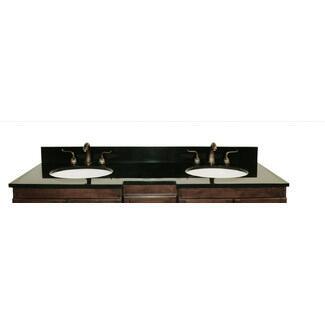 Legion Furniture WLF5047-XX-61 61in. Granite, Backsplash and Cupc Sinks
