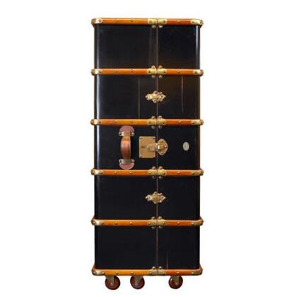 """Authentic Models MF077X Stateroom Armoire, 23.6""""  Maple, Pine, Leather, Brass & MDF Material"""
