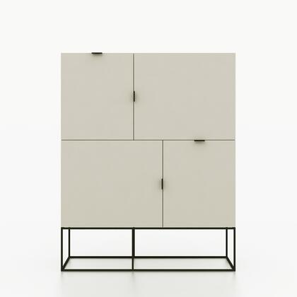 Argo Furniture CP1411FP04SS4MP Luna Series Freestanding Metal None Drawers Cabinet