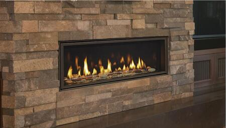 Majestic Echelon II Series ECHEL60IN 60 Inch Direct Vent Natural Gas Fireplace with Bronze Glass
