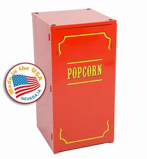 Paragon 1911 commercial grade steel contstructed Premium Red Stand with two inner shelves