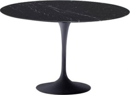 Fine Mod Imports FMI2020-X-BLACK Flower Marble Table In Black