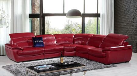 VIG Furniture VGKNK8469TOPRED Divani Casa Hana Series Stationary Sofa