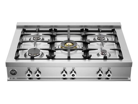 "Bertazzoni CB36500X 36"" Professional Series Gas Sealed Burner Style Cooktop, in Stainless Steel"