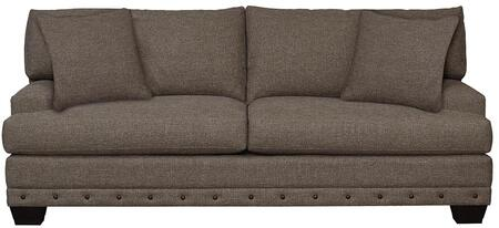 """Bassett Furniture Carmine Collection 3917-62FC/FC156-X 87"""" Sofa with Stylish Plush, Fiber Crown Patch, Fiber Wrap and Wood Legs with Walnut Finish"""