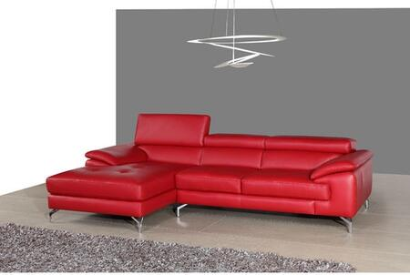 JandM Furniture Italian Leather Mini Sectional Right Facing Chaise 179061 RHFC