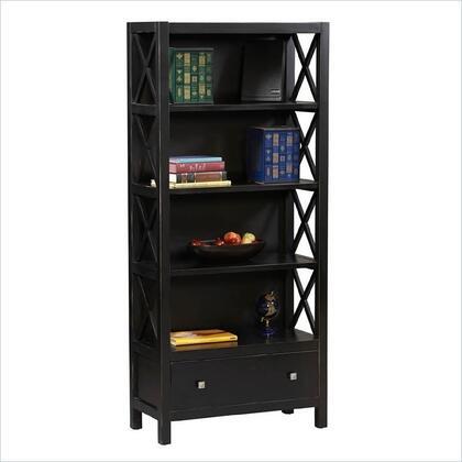 Linon K86103C124Anna Series Wood 5 Shelves Bookcase