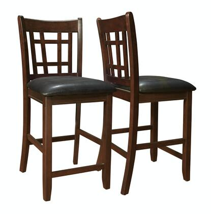 Monarch I1156 Contemporary Padded Wood Frame Dining Room Chair