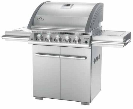 """Napoleon L485RSIBPSS 61"""" Freestanding Grill, in Stainless Steel"""