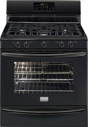 """Frigidaire FGGF3054MB 30"""" Gallery Series Gas Freestanding Range with Sealed Burner Cooktop, 5.0 cu. ft. Primary Oven Capacity, Storage in Black"""