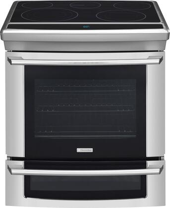 "Electrolux EW30ES65GS 30"" Wave-Touch Series Slide-in Electric Range with Smoothtop Cooktop Oven 4.2 cu. ft. Primary Oven Capacity"
