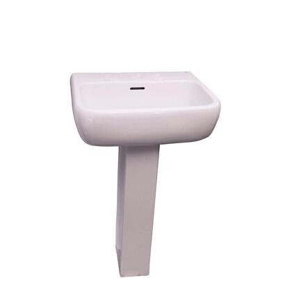 Barclay 394WH Metropolitan 520 Vitreous China Pedestal Lavatory with Overflow: