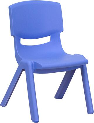"Flash Furniture YU-YCX-003-XX-GG Plastic Stackable School Chair with 10.5"" Seat Height, 154 lb. Static Load Capacity, Lightweight Design, Easy To Clean, and Stacks up to 10 Chairs High"