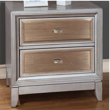Furniture of America CM7295SVN Golva Series  Night Stand