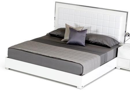 VIG Furniture VGACSANMARINOBEDWHTEK Modrest San Marino Series  King Size Platform Bed