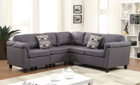 Acme Furniture 51550 Cleavon Series Stationary Fabric Sofa