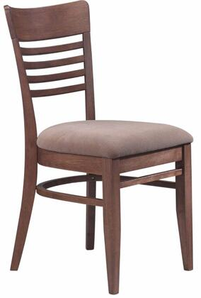 Chintaly DARONSC Daron Series Traditional Fabric Wood Frame Dining Room Chair