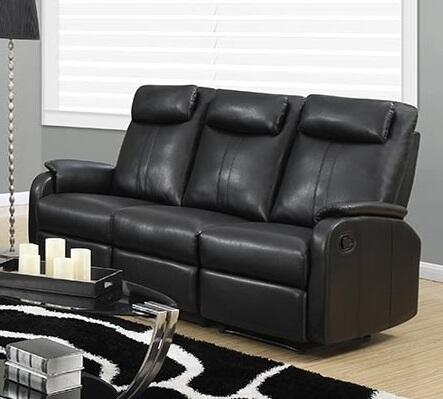 """Monarch I 81YY-3 72"""" Reclining Sofa with Lumbar Support, Comfortably Padded and Bonded Leather"""