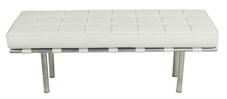 Fine Mod Imports FMI40042W Accent Armless Steel Leather Bench