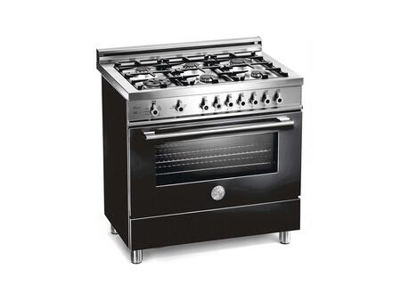 """Bertazzoni Professional Series X36 6 PIR 36"""" Freestanding Dual Fuel Range with 6 Sealed Burners, 4.0 cu. ft. European Convection Oven, Pyrolytic Self-Clean, Temperature Probe and Indicator Lights"""