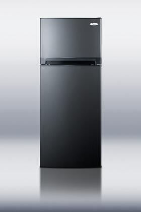 """Summit FF1074BLIM24"""" Freestanding Top Freezer Refrigerator with 10.3 cu.ft. Total Capacity 3 Glass Shelves"""