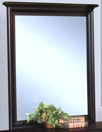 Picture of 00-013-062 Belle Rose 33 Youth Mirror with Wooden Frame and Detailed Molding  in Dark