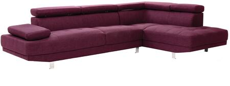 Glory Furniture G447SC Milan Series Curved Fabric Sofa