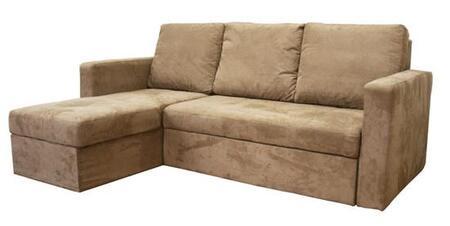 Wholesale Interiors LAN121SECTIONALLFCTAN  Convertible Fabric Sofa