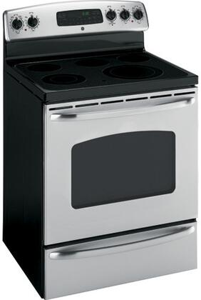 GE JBP72SMSS  Electric Freestanding Range with Smoothtop Cooktop, 5.3 cu. ft. Primary Oven Capacity, Storage in Stainless Steel