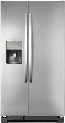 "Whirlpool WRS325FDAD 36""  Side by Side Refrigerator with 24.5 cu. ft. Capacity in Silver"