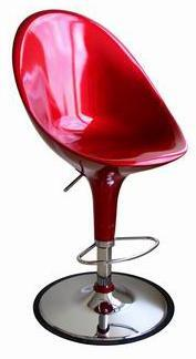 Wholesale Interiors A190RED Mu Series  Bar Stool