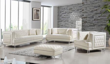 Meridian 6094PCSTLARMSTKIT3 Lucas Living Room Sets