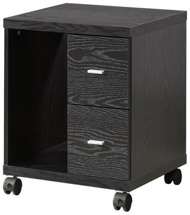 "Coaster Peel 17.75"" Computer Stand with 2 Drawers, Vertical Open Shelf, Casters and Wood Construction in"