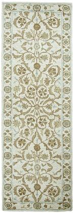 Rizzy Home Ashlyn Collection ASHAL25730004 ' x ' Rectangle X Area Hand-Tufted New Zealand Wool Blend Rug in Beige