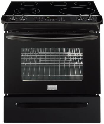 Frigidaire FGES3045KB Gallery Series Black Electric Freestanding Range with Smoothtop Cooktop, 4.2 cu. ft. Primary Oven Capacity, Storage