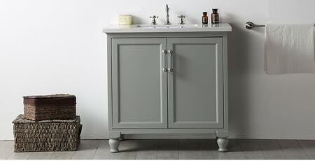 """Legion Furniture WH7536 36"""" Sink Vanity with 2 Doors, Ceramic Sink and 3 Pre-Drilled Faucet Hole in"""