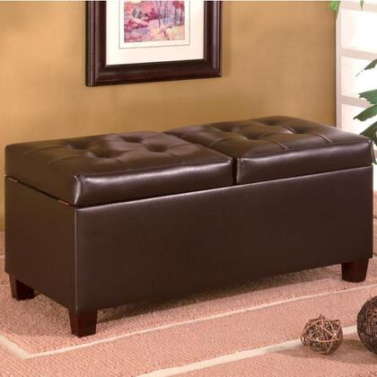 Coaster 501039 Ottomans Series Contemporary Faux Leather Ottoman