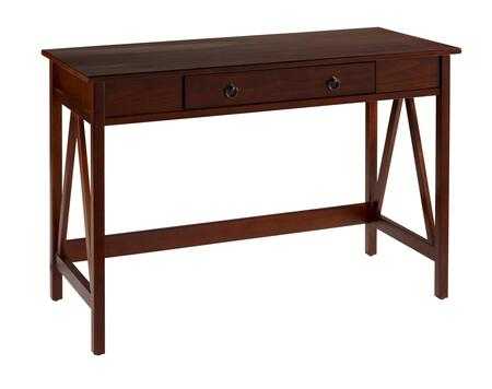Linon 86154ATOB01KDU Titian Series Writing  Pine and Painted MDF Desk
