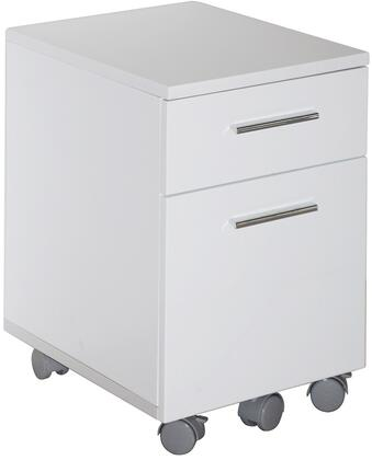"Unique Furniture 231WH 20"" Wood Modern File Cabinet"