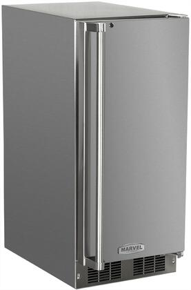 Picture of 250IMSSFR 15 Solid Stainless Door Outdoor Ice Maker With Crescent Ice Cubes  Close Door Assist System  Manual Defrost  15 lbs Storage  12 lbs Daily Ice