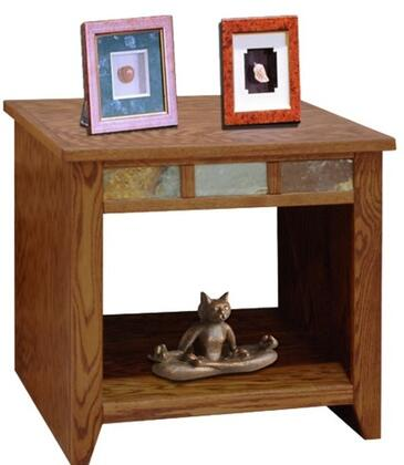 Legends Furniture OC4100GDO Oak Creek Series Contemporary Square End Table